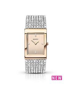 seksy-rose-tone-dial-diamonte-bracelet-ladies-watch
