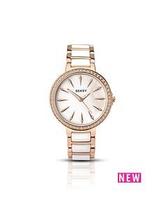 seksy-seksy-white-dial-rose-tone-bezel-bracelet-ladies-watch