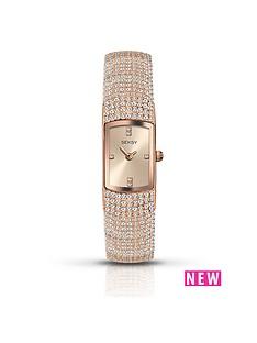 seksy-rose-tone-diamonte-bracelet-ladies-watch
