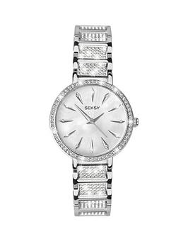 seksy-silver-tone-dial-diamonte-detail-bracelet-ladies-watch