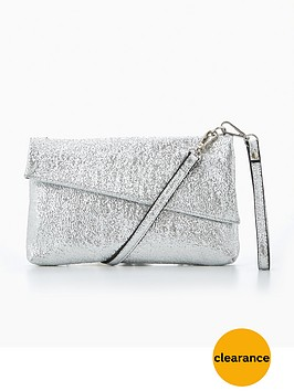 v-by-very-diagonal-envelope-wristletnbsp--silver