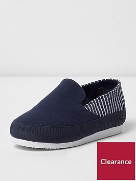 river-island-river-island-mini-boys-slip-on-with-stripe-panel