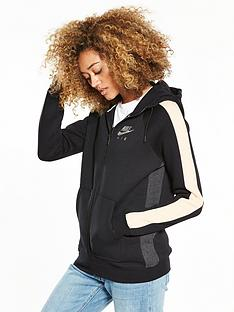 nike-sportswear-rally-air-full-zip-hoodie-blackpinknbsp