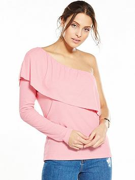vila-morcan-one-shoulder-frill-top-peony