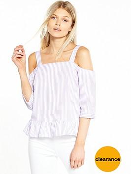 miss-selfridge-petite-printed-stripe-top