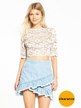 miss-selfridge-petite-lace-crop-top