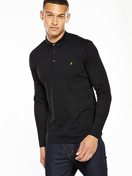 farah-stapleton-textured-stipe-ls-polo