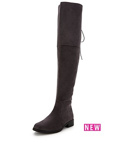 v-by-very-lacey-tie-back-over-the-knee-boot-grey