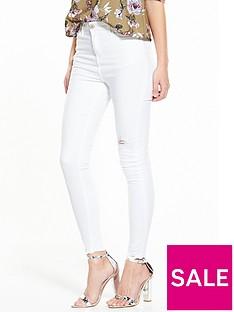 miss-selfridge-white-ripped-fray-hem-lizzie-jean