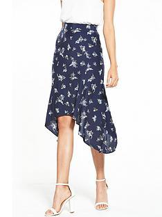 miss-selfridge-floral-printed-hanky-hem-skirt