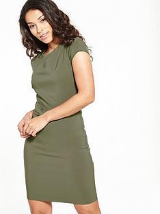 miss-selfridge-origami-pleat-high-neck-dress