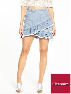 miss-selfridge-petite-denim-ruffle-skirt