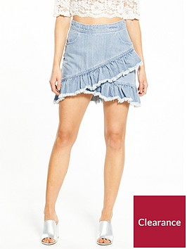 miss-selfridge-petite-denim-ruffle-skirt