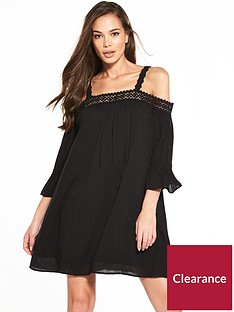 miss-selfridge-crochet-cold-shoulder-dress
