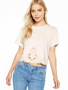 miss-selfridge-crochet-embroidered-hem-tee