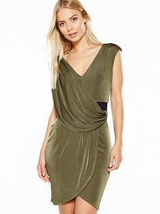 miss-selfridge-belted-drape-dress-khakinbsp