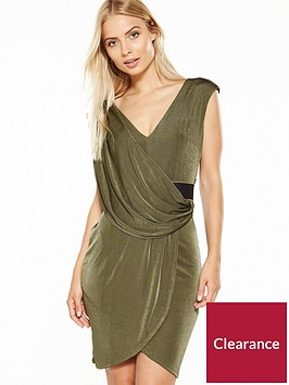miss-selfridge-belted-drape-dress-khakinbsp