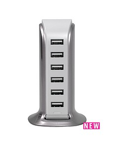 port-designs-wall-charger-tower-6-usb-uk
