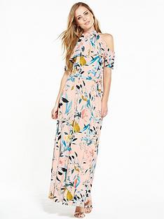 v-by-very-high-neck-frill-maxi-dress