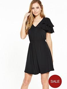 v-by-very-frill-v-neck-dress