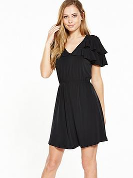 v-by-very-frill-v-neck-dress