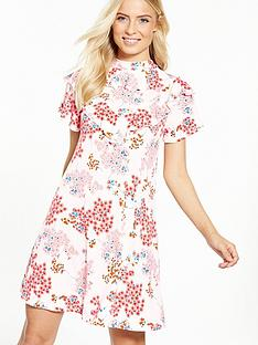 v-by-very-high-neck-printed-frill-dress