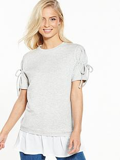 v-by-very-short-sleeve-2-in-1-sweat-top