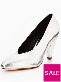 v-by-very-dolly-high-vamp-mid-heel-court-shoe-silver