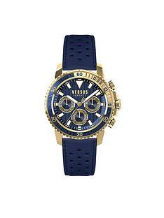 versus versace brand store very co uk versus versace versus versace aberdeen blue multi dial blue leather strap mens watch