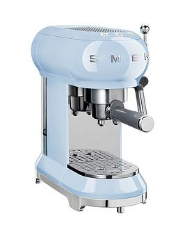 Smeg Ecf01 Espresso Coffee Machine – Pastel Blue