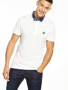 lyle-scott-lyle-amp-scott-check-woven-collar-polo