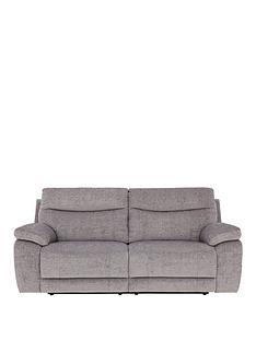 bling-3-seaternbspfabric-manual-recliner-sofa