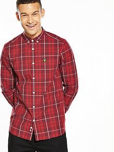 lyle-scott-lyle-amp-scott-ls-poplin-check-shirt