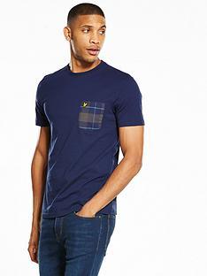 lyle-scott-lyle-amp-scott-check-pocket-t-shirt