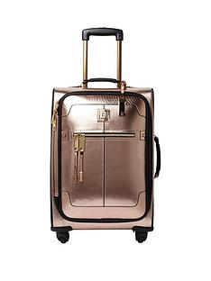 river-island-rose-gold-2-wheel-cabin-case