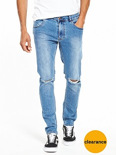 dr-denim-clark-slim-destroyed-jeans
