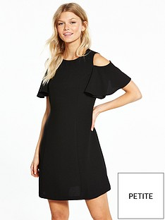 v-by-very-petite-cold-shoulder-woven-dress-black