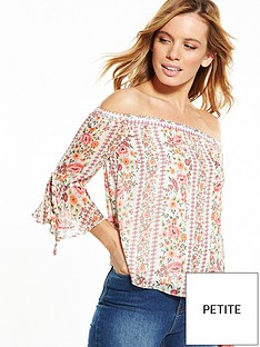 v-by-very-petite-tie-sleeve-bardot-blouse