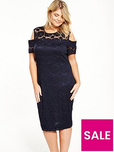 ax-paris-curve-cold-shoulder-lace-bodycon