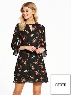 v-by-very-petite-printed-ruffle-tea-dress