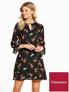 v-by-very-petite-printed-ruffle-tea-dress