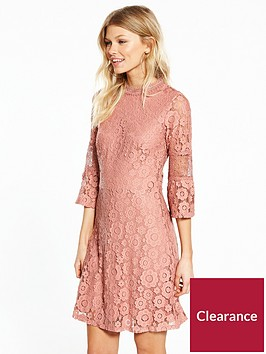 v-by-very-petite-flute-sleeve-lace-dress