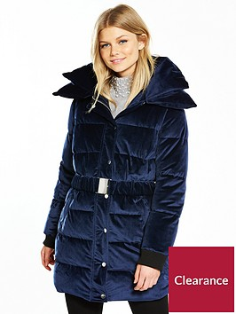 v-by-very-petite-velvet-longline-padded-coat