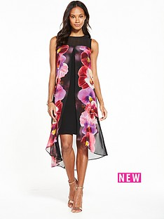 wallis-pansy-split-front-dress