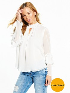 v-by-very-petite-high-neck-ruffle-blouse-ivory