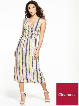 warehouse-dash-stripe-wrap-dress