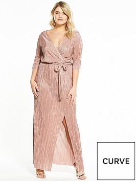 v-by-very-curve-plisse-wrap-maxi-dress