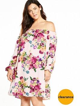 ax-paris-curve-bardot-floral-dress