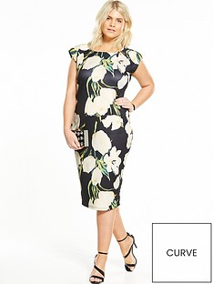 ax-paris-curve-cap-sleeve-printed-bodycon