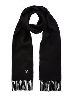 lyle-scott-lyle-amp-scott-plain-woven-lambswool-scarf